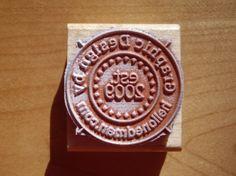 Logo stamp I put on the back of invitations I design