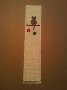 Bookmark. Xmas cat