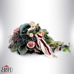 Święto zmarłych 2016 | Bu-Fu Kompozycje kwiatowe Black Flowers, Funeral, Band, Diy, Gardening, Jewelry, Flowers, Sash, Jewlery