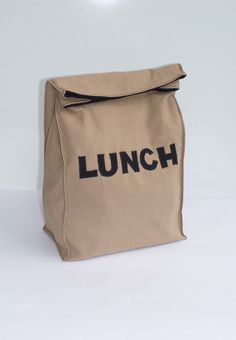 Fabric Paper Bag Reusable Snack Sack LUNCH Brown Lunch Bag eco friendly by BonTons on Etsy