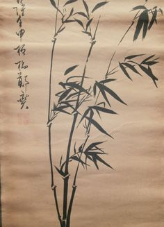 Old Chinese scroll paintings Landscape bamboo AA