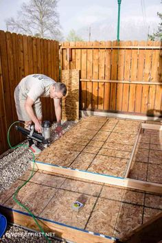 Do you need more storage at your house? Maybe you need a shed. Here is how to build shed walls plus a shed floor. That way you can build your own shed!
