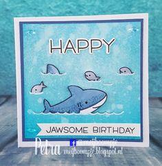 Meijboompjes Creatieve Creaties: Jawsome birthday  Duh Nuh Lawn Fawn