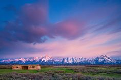Cunningham Cabin in Grand Teton National Park near Jackson, Wyoming.