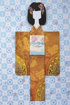 This is my collection of kimono paper dolls, each one is handcrafted and unique.