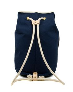 BAG - Blue Navy Sailors Kit Bag - Men's Canvas and Leather Bag - Exclusive Men's…