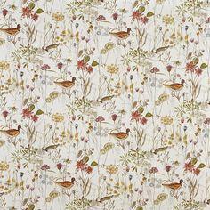 Wetland in Auburn 337 by Prestigious Textiles | Curtain Fabric Store Curtain Material, Curtain Fabric, Beautiful Blinds, Forest Fruits, Prestigious Textiles, Made To Measure Curtains, Flower Bird, Custom Curtains, Curtain Designs