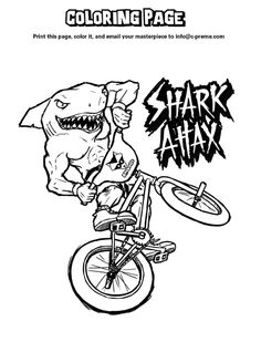 On this page youll find some shark coloring pages which I have