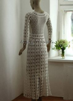 Lace boho romantic maxi wedding dress bohemian bridal dress