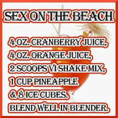 Sex On The Beach ViSalus Recipe  http://www.vivaciousyou.bodybyvi.com to order, click on JOIN THE CHALLENGE