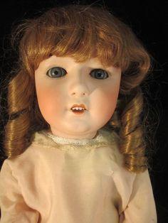 Antique German Bisque Doll Gebruder Heubach #8192 Large Child 29 inch