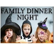 Family Dinner Night on Thursday, October 31, 2013 AND kids eat for FREE!  Also, there will be a Trick-or-Trade-in where kids can trade unhealthy Halloween candy for some healthier treats for free on November 2, 2013!!