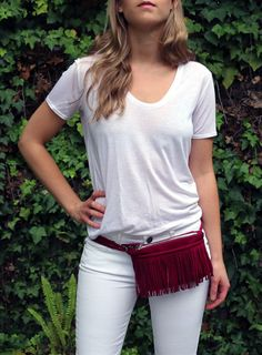 The Mulberry Fringe fanny pack