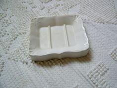White Ironstone Soap Dish Plate China by assemblage333 on Etsy, $24.00