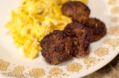 Bison Breakfast Sausage Patties - Paula Goes Primal Paleo Whole 30, Whole 30 Recipes, Top Protein Foods, Whole30 Breakfast Sausage, Bison Recipes, Bison Meat, Candida Diet Recipes, Clean And Delicious