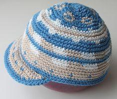 Crochet Hat With Brim, Knitted Hats, Minimalist Outfit Summer, Knit Crochet, Crochet Hats, Crochet Blogs, Beanie, Knitting, Kids