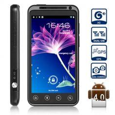 ZOPO ZP100 Android 4.0 3G Smart Phone Téléphone mobile Double Carte SIM 4,3 pouces écran tactile capacitif WCDMA + GSM GPS WiFi (Noir) - 7mall.fr