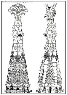 Two Towers Adults Architectures Coloring Pages