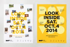 Posters for Doors Open Vancouver designed by Brief.