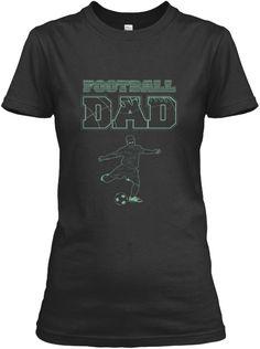 Football Dad  Black Women's T-Shirt Front