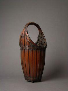 Fine Bamboo Ikebana Basket Meiji Taisho Period   eBay.com