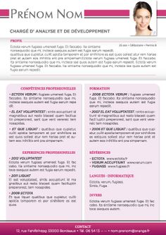 Modèle de CV Chempaka Rose