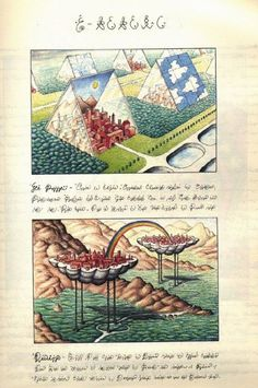 'TheCodex Seraphinianus is a book written and illustrated by Italian artist, architect and industrial designerLuigi Serafini, from 1976 to 1978.The book appears to be a visual encyclopedia of an unknownworld, written in one of itslanguages, an alphabetic writing intended to be meaningless.'