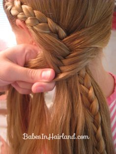 Half French Braid into a Fishbone Braid