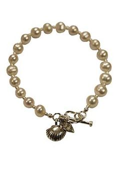 Rebecca Watson Designs Silver & Cream Pearl Clam Shell Bracelet http://www.youngideasfashion.com/store/product/13362/Rebecca-Watson-Designs-Silver-%26-Cream-Pearl-Clam-Shell-Bracelet/