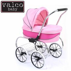 Valco Baby Just Like Mum Princess Dolls Stroller Hot Pink is a traditional and elegant style doll stroller is one of our most popular prams from our Just Like Mum range Baby Doll Strollers, Best Baby Strollers, Pram Stroller, Princess Toys, Baby Princess, Princess Party, Disney Princess, Best Lightweight Stroller, Zapf Creation