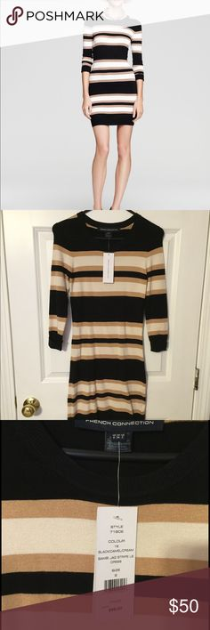 French Connection sweater dress Beautiful French Connection lightweight sweater dress. Perfect for the fall with leggings and booties or dress it up with heels. French Connection Dresses Long Sleeve