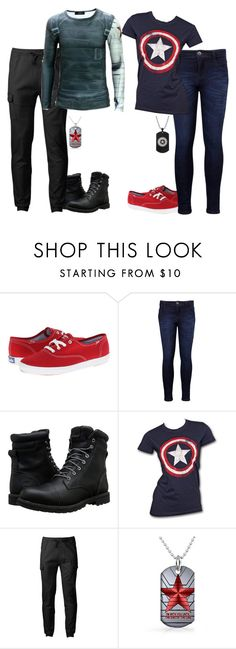 """I could see me and one of my friends doing this"" by its-just-juli ❤ liked on Polyvore featuring Keds, Levi's, Timberland, Marvel and Chor"