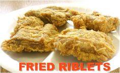 Fried Pork Riblets!!!  Ervin's Chicken Temple, TX Pork Riblets, Kohlrabi Recipes, Pork Recipes, Fried Pork, Pie Cake, Bbq Pork, Recipe Box, Fries