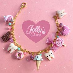 Source by Jewelry Red Jewelry, Girls Jewelry, Cute Jewelry, Jewelry Crafts, Little Girl Jewelry, Cute Polymer Clay, Polymer Clay Charms, Cute Clay, Claire's Accessories