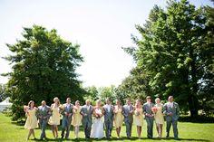 Wedding party - Peach, Yelow and gray wedding - www.FirstDanceFloralDesign.com  - Amanda Mcmahon Photghraghy