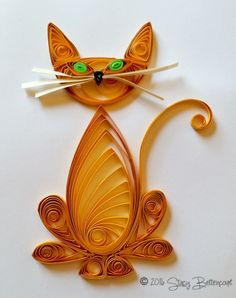 Quilled Orange Tabby Cat  #quilled #cat #tabby #orange
