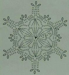 snowflake More – Snowflakes World Crochet Snowflake Pattern, Crochet Stars, Crochet Snowflakes, Thread Crochet, Crochet Crafts, Crochet Projects, Crochet Diagram, Crochet Motif, Crochet Doilies