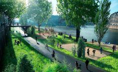Os altos índices de poluição atmosférica que causa mais de 2.500 fatalidades por ano em Paris e a necessidade de mais espaços públicos levaram a...