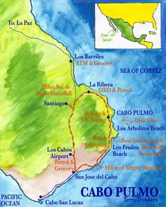 Map Cabo Pulmo Favorite Places Spaces Pinterest Cabo Baja