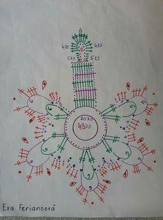 Crochet Patterns Filet, Crochet Socks Pattern, Crochet Snowflake Pattern, Christmas Crochet Patterns, Holiday Crochet, Crochet Snowflakes, Crochet Diagram, Tatting Patterns, Christmas Knitting