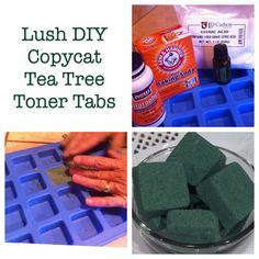 DIY Lush Toner Tabs = frugal living.