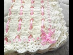 Cobija tejida a crochet muy linda y fácil - YouTube