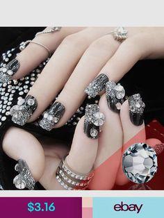Glitter Crystal Flat Back Rhinestones Glass Nail Art Rhinestones Mixed Sizes 61993c8db29d