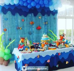 Trendy Party Themes For Kids Boys First Birthdays Ideas Boy First Birthday, First Birthday Parties, First Birthdays, Bubble Guppies Birthday, Kids Party Themes, Ideas Party, Baby Shark, Kids Boys, Whale Party