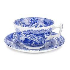 Spode Blue Italian - Kopp med fat