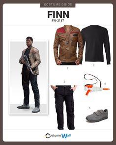 Dress as Finn, stormtrooper turned Resistance fighter, played by John Boyega in Star Wars: The Force Awakens.