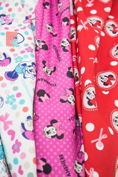 Disney® Minnie Mouse Personalized Print Fabric