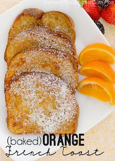 Baked Orange French Toast Recipe - Baked Orange French Toast by scatteredthoughts of a crafty: Crispy and sweet with just a hint of or - Breakfast And Brunch, Breakfast Dishes, Breakfast Recipes, Breakfast Casserole, Breakfast Muffins, Mini Muffins, Muffin Recipes, Orange French Toast Recipe, French Toast Bake