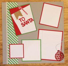 www.stinkincutecards.com  Letter to Santa Scrapbook Layout