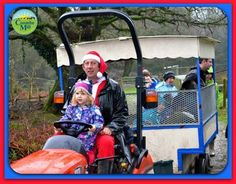 Farmer Christmas 2015 at Coombe Mill Family Farm Holidays, Cornwall